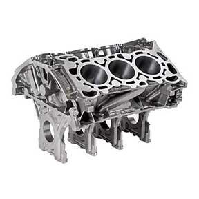 The SinterCast-CGI 2.7L V6 provides the same torque as the 5.0 L V8